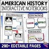American History Interactive Notebook Bundle 5th Grade 7 U