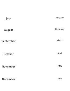 Interactive Notebook Spanish Months