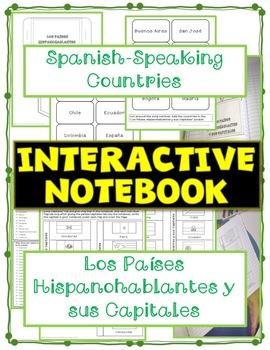 Interactive Notebook-Spanish Spanish Countries-Países Hispanohablantes