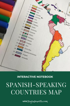Interactive Notebook Spanish-Speaking Countries Map