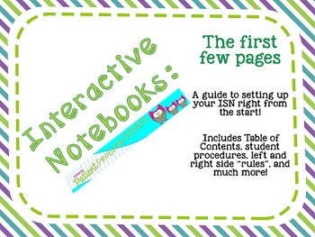 Interactive Notebook Start Up Pages