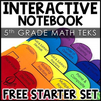 Interactive Notebook Starter Set | 5th Grade Math FREE