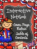 Interactive Notebook Student Covers Rubric and Table of Contents