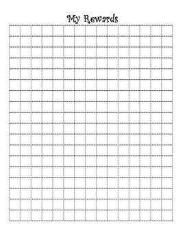 Interactive Notebook Student Reward Grid Log
