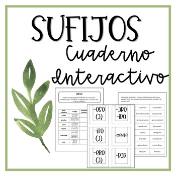 Interactive Notebook: Suffixes (Spanish)