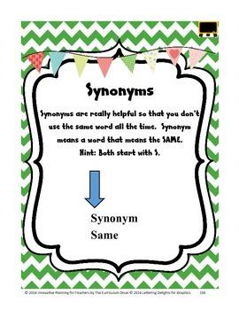 Synonym & Antonyms Lesson Grades 2-5