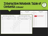 Interactive Notebook Table of Contents (editable)