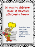 Interactive Notebook Table of Contents with Doodle Border