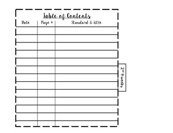 Interactive Notebook Table of Contents with Tabs