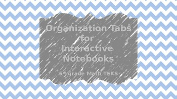 Interactive Notebook Tabs