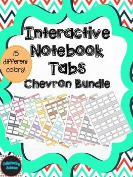 Interactive Notebook Tabs Chevron Bundle **EDITABLE!!**