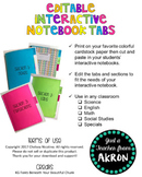 Interactive Notebook Tabs [Editable]