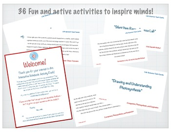 Life Science Taskcards / Early Finisher Activities - 1 Year