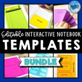 Interactive Notebook Templates Bundle | Pocket, Table of C