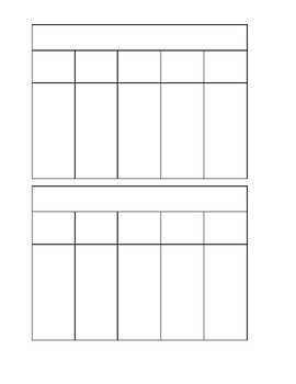 Interactive Notebook Template: Flip Tabs