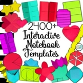 Editable Interactive Notebook Templates 2400+ (Classroom & Commercial Clipart)