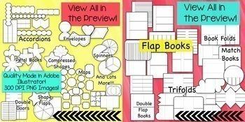 2400+ Editable Interactive Notebook Templates (Classroom & Commercial Clipart)