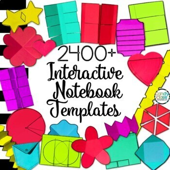 2400+ Digital Interactive Notebook Templates Clipart - Back to School