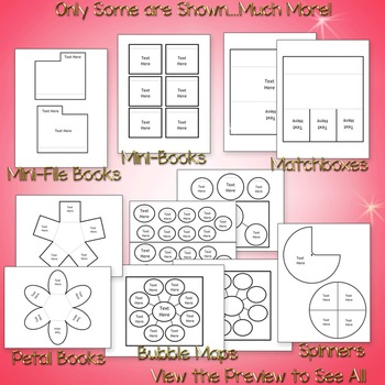Interactive Notebook Templates 100+ Text Ready & Editable - (Classroom Use Only)