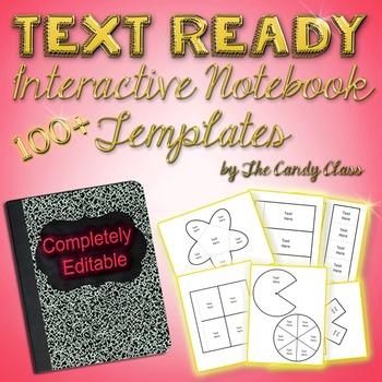 Interactive Notebook Templates 100+ Text Ready & Editable