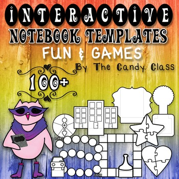 Interactive Notebook Templates 100+ Fun & Games {Game Boards, Puzzles & More}