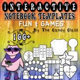 Interactive Notebook Templates 100+ Fun & Games {Game Boar