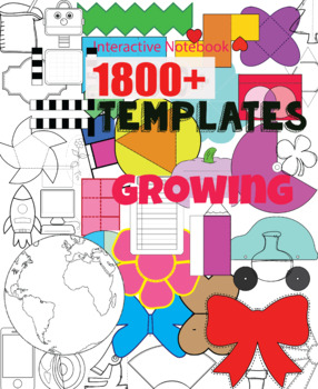 Interactive Notebook Templates 1600+ (Classroom & Commercial) growing!HUGE Bundl