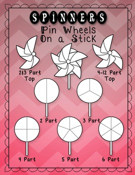 Interactive Notebook Templates 50+ Spinner Wheels (Commercial & Classroom Use)