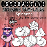 Interactive Notebook Templates 50+ Spinner Wheels (Commerc