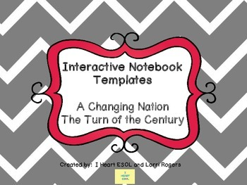 Interactive Notebook Templates Industrial Revolution {A Changing Nation}