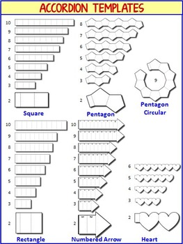 Interactive Notebook Templates - Easy to Cut Accordion Pack - 94 Templates!