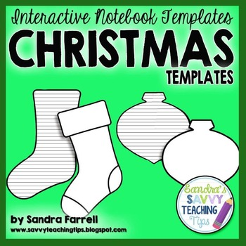 Interactive Notebook Templates - Christmas Shapes