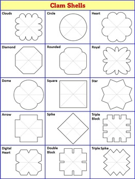 Interactive Notebook Templates | Interactive Notebook Templates Easy To Cut Clam Shell Pack 15