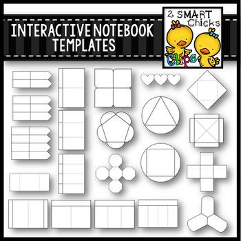 Interactive Notebook Templates Clip Art