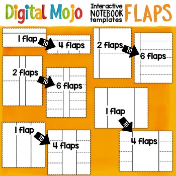 Interactive Notebook Templates Clipart - Flaps
