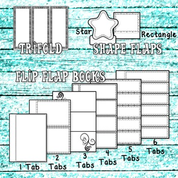 Interactive Notebook Templates: Doodle Flaps & Frames (Commercial Use)