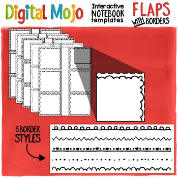 Interactive Notebook Templates Flaps With Borders