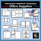 Interactive Notebook Templates - Office Supplies Clipart!!