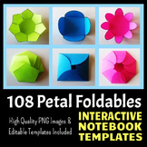 Interactive Notebook Templates - Easy to Cut Petal Pack -