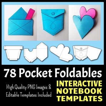 Interactive Notebook Templates - Easy to Cut Pocket Pack - 78 Templates!