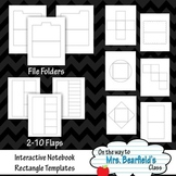 Interactive Notebook Templates {Rectangle Styles}