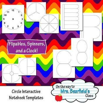 Interactive Notebook Templates {Round Styles}