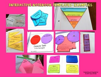 Interactive Notebook Templates & Shapes Bundle {Commercial Use Allowed}