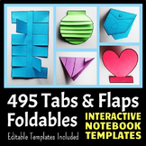 Interactive Notebook Templates - Easy to Cut Tabs & Flaps Pack - 495 Templates!