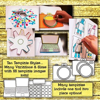 Interactive Notebook Templates: Technology Gadgets (Commercial Use Clip Art)