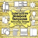 Interactive Notebook Templates: Technology Clip Art with T