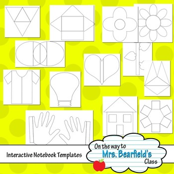 Interactive Notebook Templates {Unique Shapes}