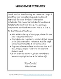 Interactive Notebook Templates (for Composition Books)