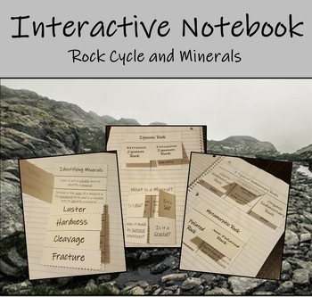 Interactive Notebook - The Rock Cycle and Minerals