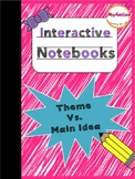 Interactive Notebook - Theme vs Main Idea